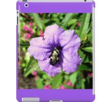 Purple Petunia with a Bee iPad Case/Skin