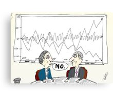 Binary Options News Cartoon Chart Forecast No Canvas Print