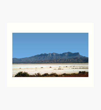 Somewhere In West Texas Art Print