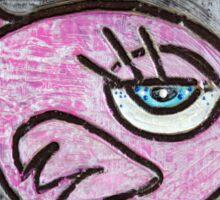 Pink Parrot Sticker