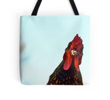 Rooster On A Rampage Tote Bag