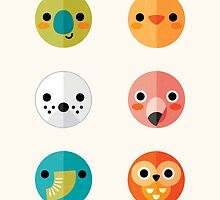 Smiley Faces - Set 3 by daisy-beatrice