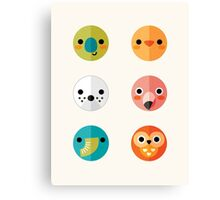 Smiley Faces - Set 3 Canvas Print