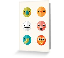 Smiley Faces - Set 3 Greeting Card