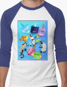 Delightful Dreidels Poster Men's Baseball ¾ T-Shirt