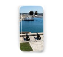 Guarding the Expensive Boats - Valletta's Grand Harbour Saluting Battery Samsung Galaxy Case/Skin