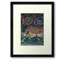 Radha and Krishna in Radha kunda Framed Print