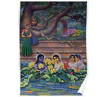 Radha and Krishna in Radha kunda Poster