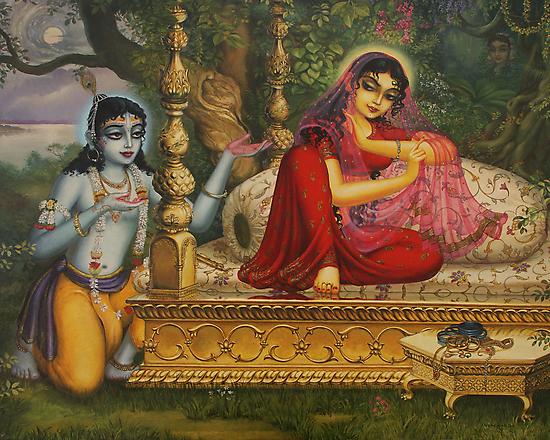 Radha and Krishna Man lila in Vrindavan by Vrindavan Das
