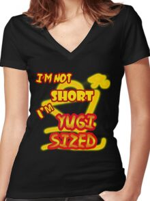 I'm not short, I'm Yugi Sized! Women's Fitted V-Neck T-Shirt