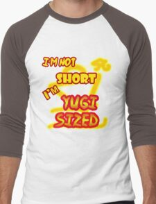 I'm not short, I'm Yugi Sized! Men's Baseball ¾ T-Shirt