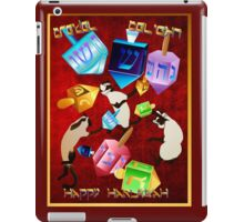 Delightful Dreidels-lettered iPad Case/Skin