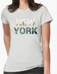 New York City (Sandstone) Womens Fitted T-Shirt