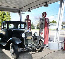 Vintage Car, Vintage Texaco by Nadya Johnson
