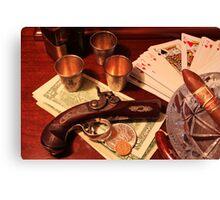 Vintage Gambling Set Up  Canvas Print