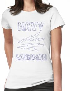 US Navy Radioman Insignia Womens Fitted T-Shirt