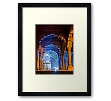 Restoring The Red Fort Framed Print