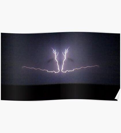 Lightning Art 36 Poster