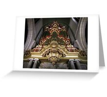 Moreau-orgel St. Janskerk Gouda  Greeting Card