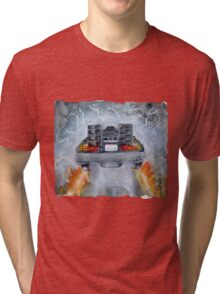 Back To The Future - OUTATIME Tri-blend T-Shirt