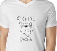 Cool Dog Mens V-Neck T-Shirt