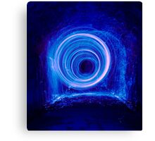 Blue spinning wool Canvas Print