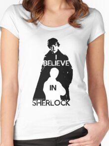 I believe in Sherlock - tee Women's Fitted Scoop T-Shirt