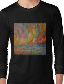 Hidden Heart Lava Sky Long Sleeve T-Shirt