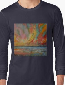 Hidden Heart Lava Sky Long Sleeve T-Shirt