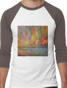 Hidden Heart Lava Sky Men's Baseball ¾ T-Shirt