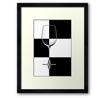 Simplicity in Black and White Framed Print