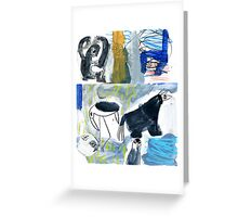 birds and beasts Greeting Card