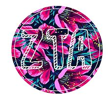zeta tau alpha zta flower laptop sticker by linnnna