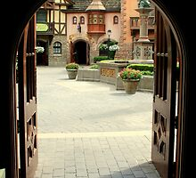 Arched Doorway with a Bavarian View by anitahiltz