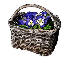 Basket Of Primroses by LynndeeLeBeau