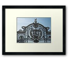 Royal Gates At Green Park Near Buckingham Palace Framed Print