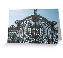Royal Gates At Green Park Near Buckingham Palace Greeting Card