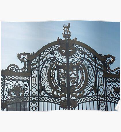 Royal Gates At Green Park Near Buckingham Palace Poster