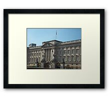 Buckingham Palace In The English Sunshine Framed Print