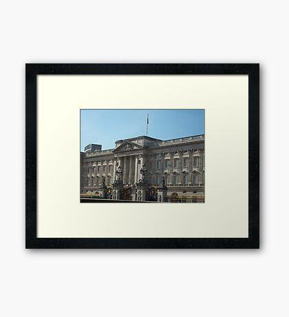 Buckingham Palace In The English Sunshine Framed Print
