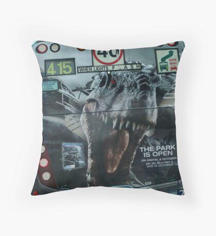 Jurassic  bus Throw Pillow