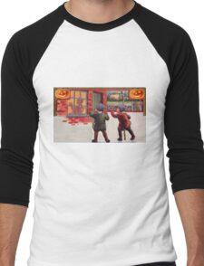 Young Killers  (Vintage Halloween Card) Men's Baseball ¾ T-Shirt