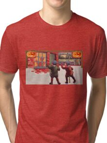 Young Killers  (Vintage Halloween Card) Tri-blend T-Shirt