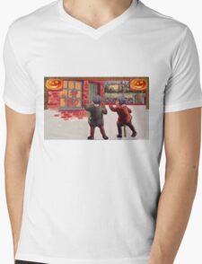 Young Killers  (Vintage Halloween Card) Mens V-Neck T-Shirt