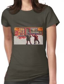 Young Killers  (Vintage Halloween Card) Womens Fitted T-Shirt