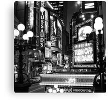 Down on 42nd Street Canvas Print