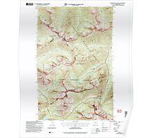 USGS Topo Map Washington State WA Washington Pass 244541 2002 24000 Poster