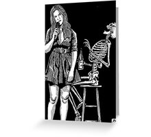 Death and the Maiden Modern Ed 2 Greeting Card