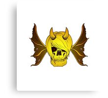 Skull Horns and Wings ( GOLD version ) Canvas Print
