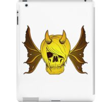 Skull Horns and Wings ( GOLD version ) iPad Case/Skin